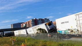 Three Emeryville rail crossings reopen after freight train derailment