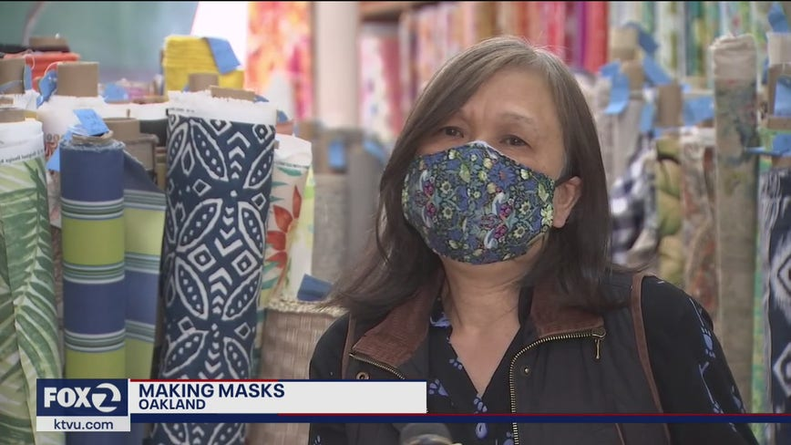 Fabric in high demand, DIY face masks on the rise