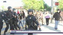 Protesters and police standoff in San Jose