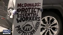 Workers strike at Oakland McDonald's over COVID-19 outbreak, store closed