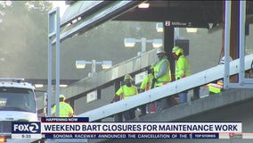 BART begins weekend shutdown for Orinda track project