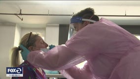 COVID-19 swab test offers peace of mind to home health care workers in Novato