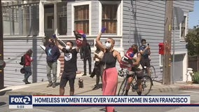 Homeless women, advocates leave vacant property peacefully; SFPD face off against protesters