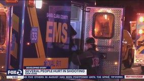 Five men shot in San Jose; suspect flees the scene
