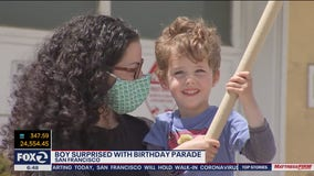 4-year-old San Francisco birthday boy feted with fire trucks