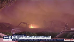 San Jose fire burns garage, cars and displaces family