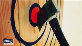 Axe throwing becomes popular during coronavirus pandemic
