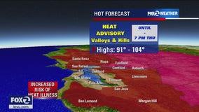 Heat advisory in effect as temps soar