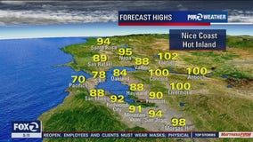 Another hot day, temps could reach 100