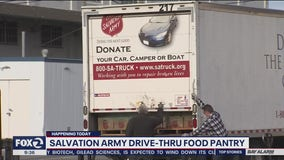 Food distribution drive-thru held in San Francisco and Oakland