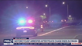 Motorcyclist arrested after chase from Redwood City to San Jose