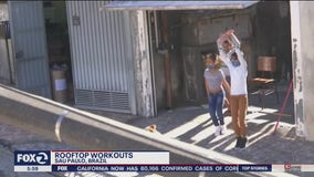 Gym owner leads rooftop workouts in Brazil