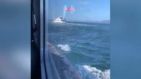 Coast Guard crews rescue two from sinking ship 9 miles from Monterey Bay
