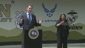Gov. Newsom thanks 'American heroes' at veterans center ahead of Memorial Day