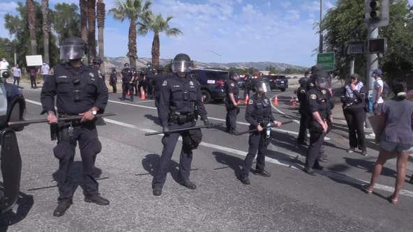 San Jose police patrol vehicle vandalized by George Floyd protesters