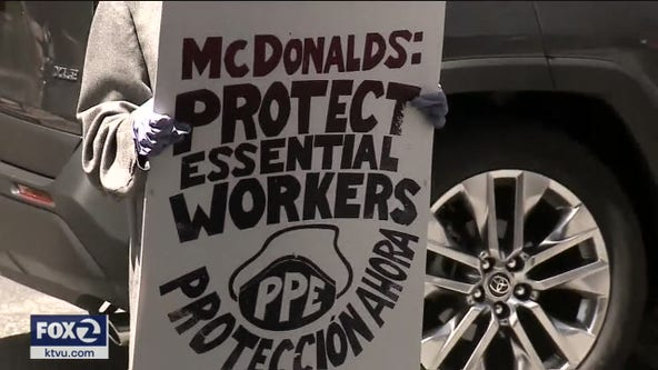 Workers strike at Oakland McDonald's over COVID-19 outbreak