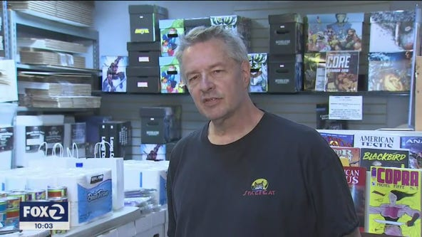 South Bay comic store owner stocks 'essential' supplies in order to reopen business