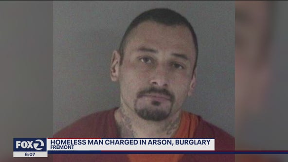 Homeless man faces arson, burglary charges
