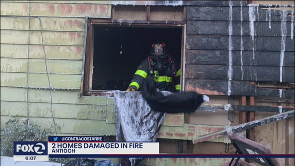 2 homes damaged in Antioch fire