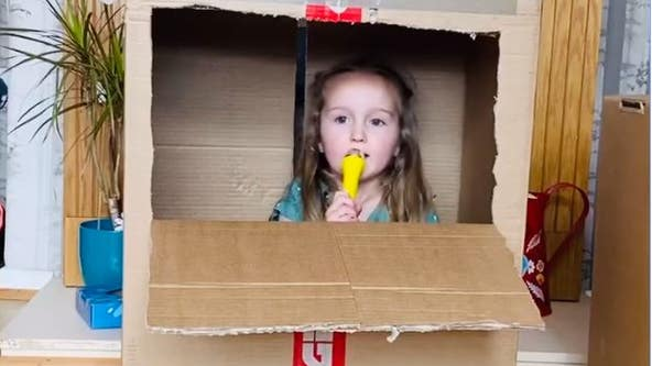 Adorable 4-year-old gives COVID-19 advice: Only leave home 'to count the rainbows'