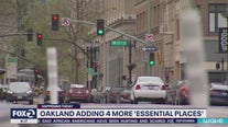 Oakland adding 4 more 'essential places;
