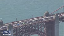 Thousands peacefully march on Golden Gate Bridge