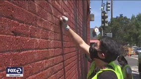 Volunteers clean vandalism in San Jose