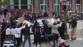 SF DA investigating shoving incident involving sheriff's captain and protester
