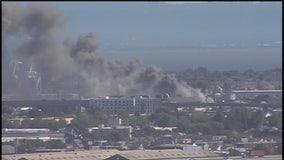 Crews responding to blaze at Schnitzer Steel in Oakland
