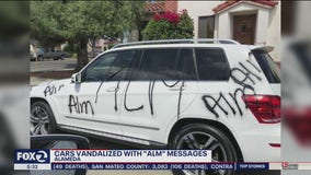 Alameda neighbors rally behind family whose cars vandalized with 'ALM'