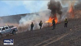 Controlled burn in East Bay hills takes on greater importance amid pandemic