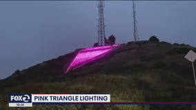 Pink Triangle Lit in San Francisco