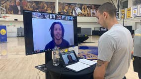 Warriors hold summer virtual camps, as kids get a special guest visit from guard Damion Lee