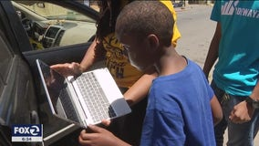 Laptops given out to close the digital divide among Oakland students