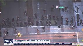 Despite protest that ran past curfew, Oakland police make no arrests