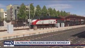 Caltrain increasing service Monday