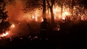 Illegal fireworks to blame for 3-alarm brushfire in Oakland