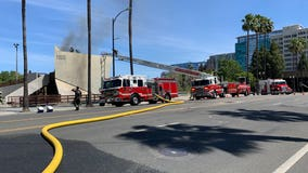 Traffic rerouted as crews battle commercial structure fire in San Jose