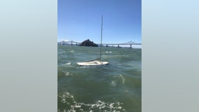 Coast Guard rescues two people from sinking sailboat