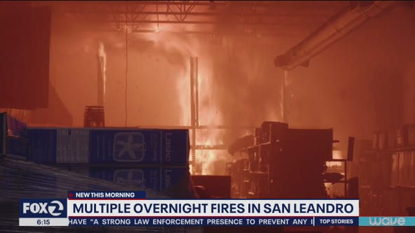 Multiple fires set in San Leandro after night of looting