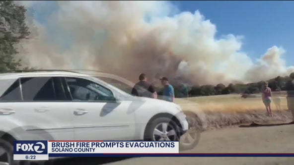 Quail Fire threatens 100 structures in Solano County, evacuations ordered