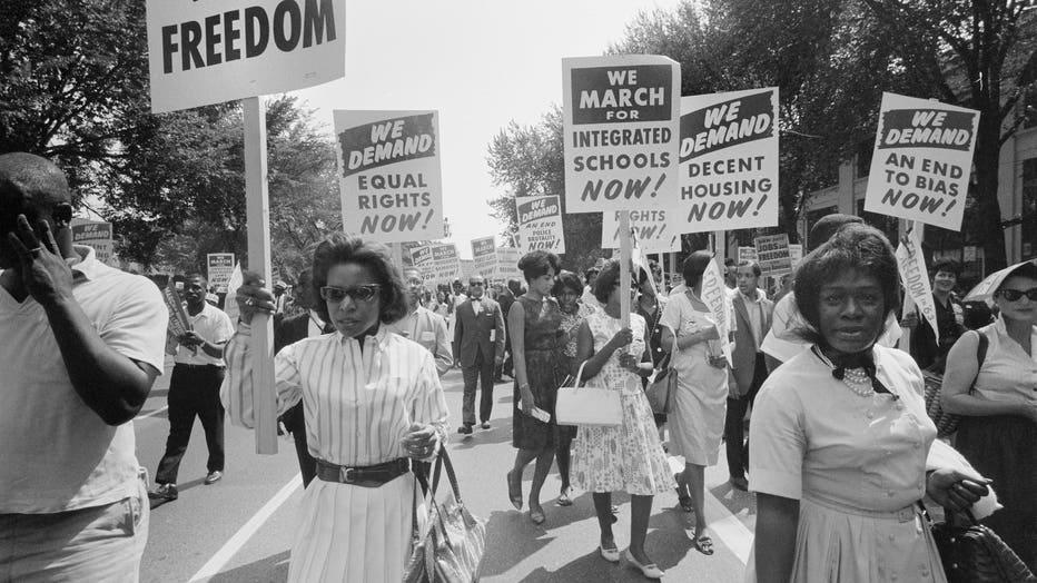 Civil Rights March, Washington DC USA, Warren K Leffler, August 28, 1963