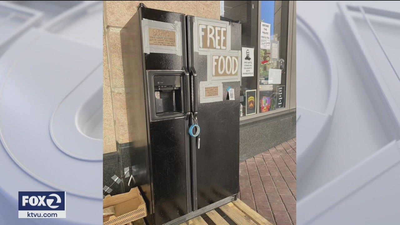 'Town Fridge', Oakland's free-food refrigerator, sees overwhelming support