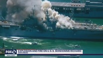 Explosion and fire on U.S.S. Bonhomme Richard