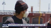 Giants resume practice following COVID-19 testing delays