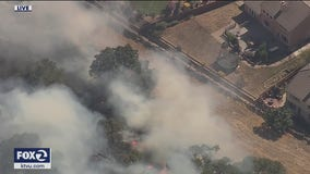Vegetation fire burning on Nelson Hill in Fairfield; evacuations ordered