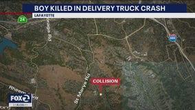 Boy killed in Lafayette delivery truck crash