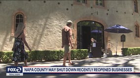 Napa County may shut down recently reopened businesses