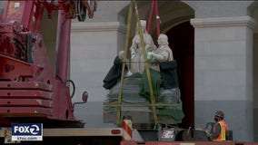 Columbus statue removed from California capitol rotunda