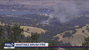 Crews contain Martinez vegetation fire that threatened several structures